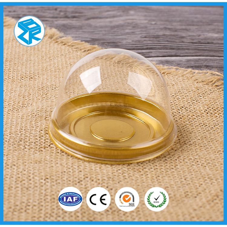 Wholesalers full round plastic disposable cake containers