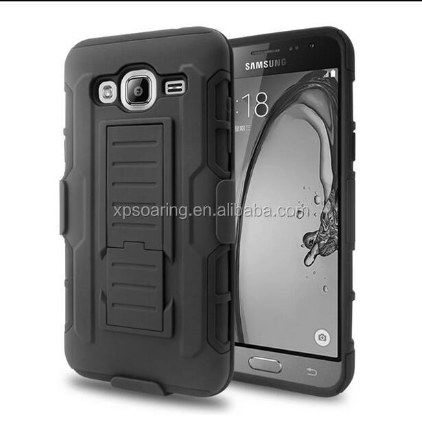 Armor holster faceplate kickstand case for Samsung Galaxy J3 J310 2016