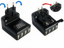 2012 hot 2100mA power travel adapter with 4 USB