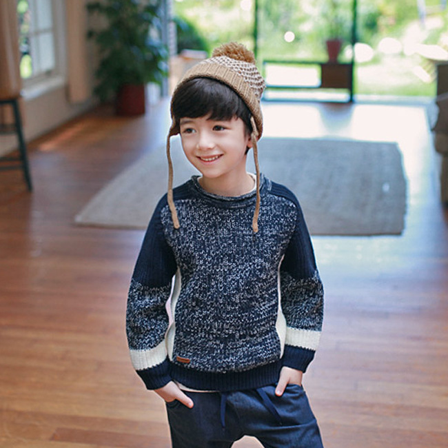 ZH02428B long sleeves sweater designs for kids hand knitted sweater baby pullover