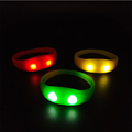 Hot sales party and event supplies silicone motion activated led bracelet