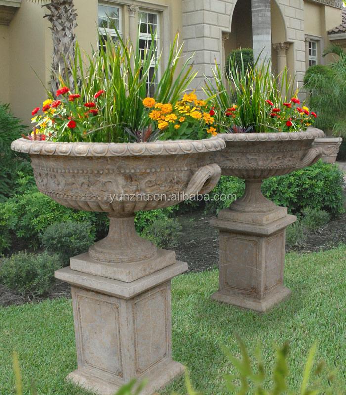 Mano talla grande de piedra macetas y floreros jard n de - Macetas de piedra para jardin ...