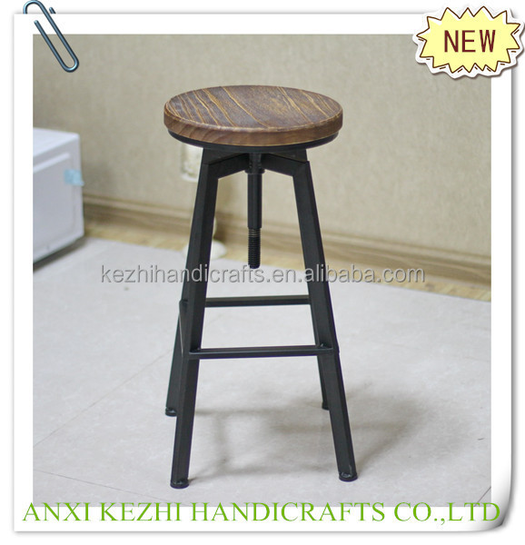 KZ13009 antique metal bar stool