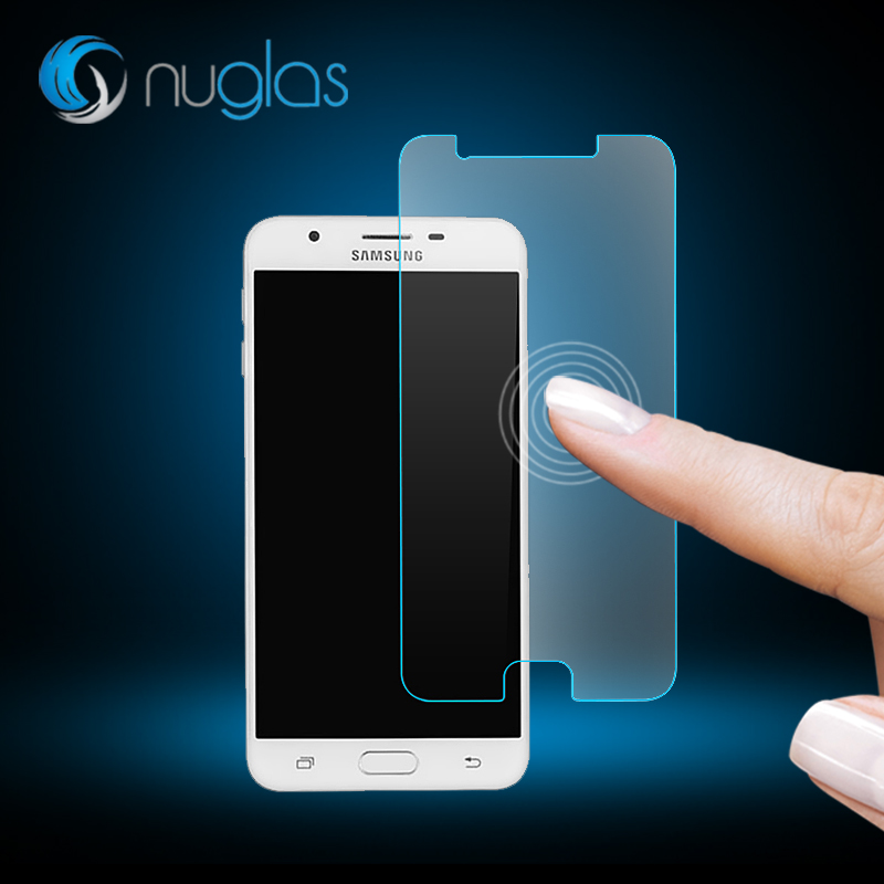 Factory Supply Nuglas 0.3mm High Clear 2.5D Curved Edge Tempered Glass Screen Protector for Samsung Galaxy J7 Prime