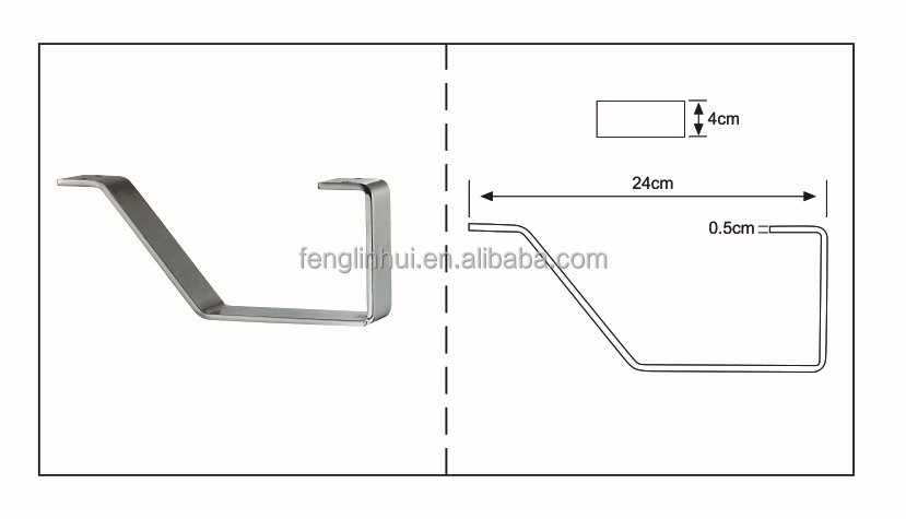 replacement metal chrome sofa legs A383