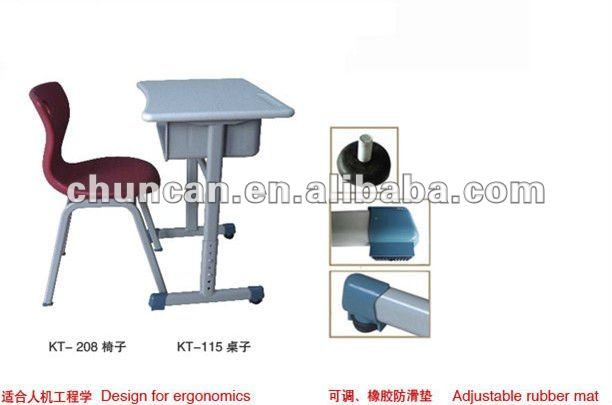 CHUNCAN modern school desk and chair for sale