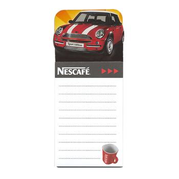 attractive custom made brand printable fridge magnetic memo pad