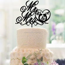Mr&Mrs Custom Acrylic Wedding Cake Topper for Decoration