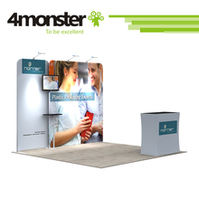 Newest product exhibition booth Reusable advertising display pop up expo trade show booth 10x10