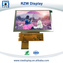 800(RGB)x480 Resolution 5 inch low voltage lcd display