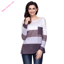 Fancy Coffee Tan Colorblock Pocket Pullover Tunic Tops Girls