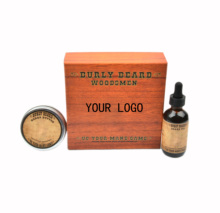 Custom scents Handmade box Private label Beard growth oil and balm kit
