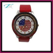 Eagle watch with America flag in different size and alloy watch case