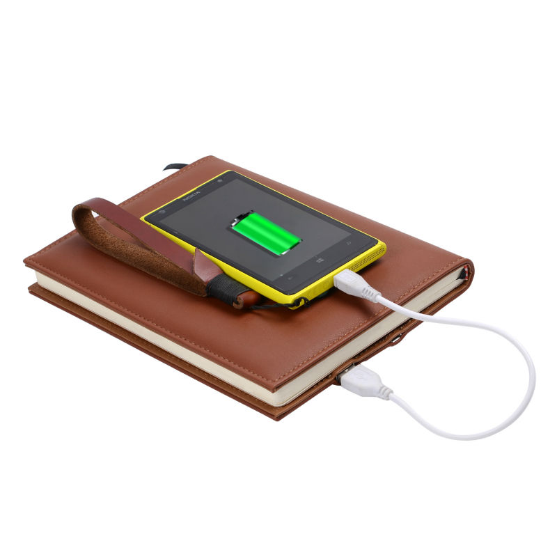 Creative Business Notebook with 6000mah Power Bank Agenda Office Supply Chancery Stationery Accessaries Calendar Planner
