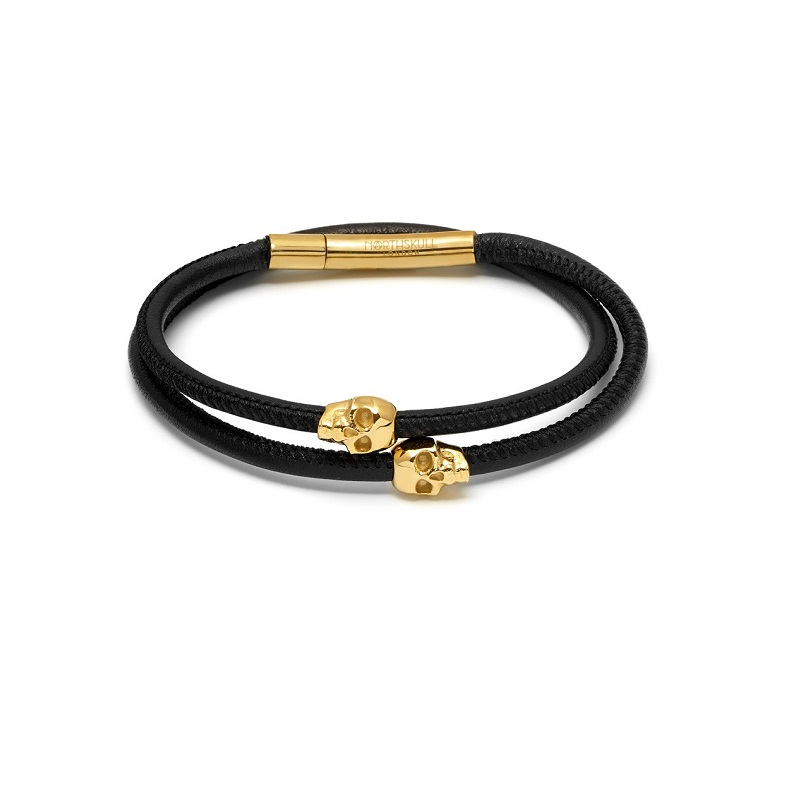 rose gold plated bangle <strong>accessories</strong> with skull beads bangles for men
