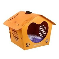 Heart-shape corrugated cardboard puppy house