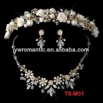 high quality wedding flower crystal bouquet jewelry