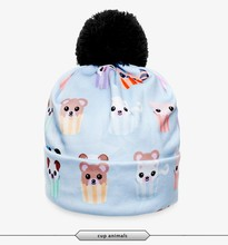 best seller unisex cheap price ready stock 3d print cup animal bear lady hat