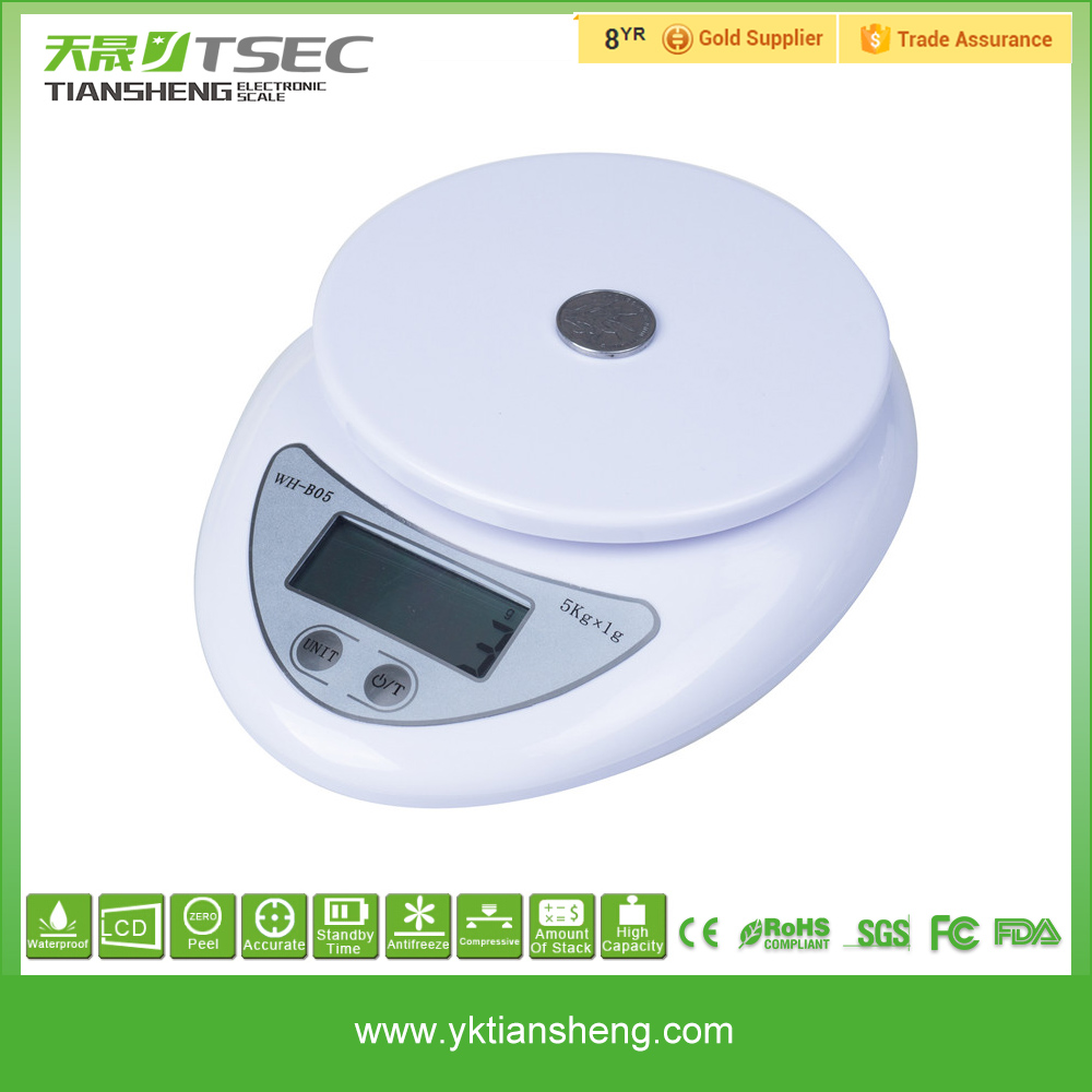 Popular Luxury Nutrition Kitchen Plastic Shell Weighing Scale