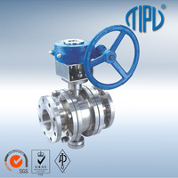 Gear Box Trunnion Mounted Flange Stainless Steel Ball Valve