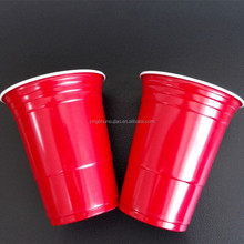 Hot sale 16oz disposable PS plastic American Red party cups