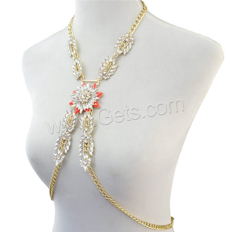 body chain shoulder chain jewelry with Crystal