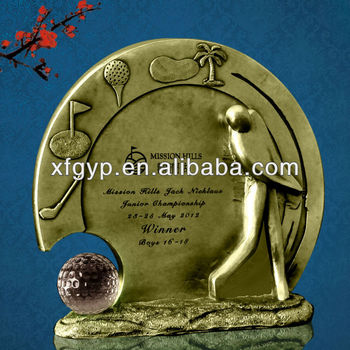 Golf statue award resin trophy