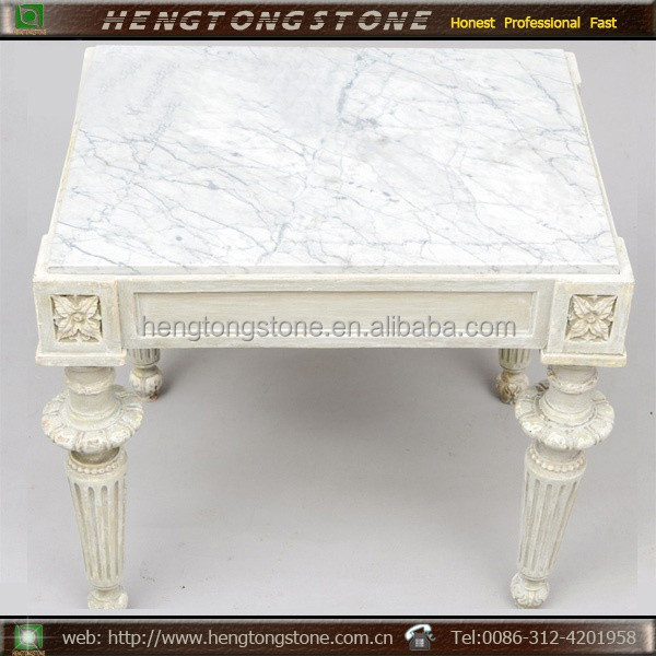 Hand Carved Square Marble Dining Table