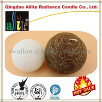 paraffin wax round ball candles with paper box packaging