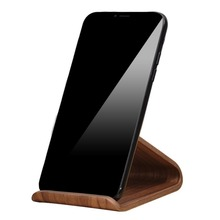 2018 Latest Design Multi-Functional Desktop Wooden Cell Phone Stand Holder