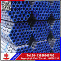 Hot-dipped galvanized pipe/slotted steel tubing alibaba china supplier