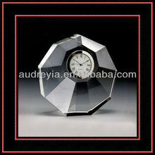 Personalized design souvenir crystal table clock