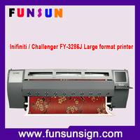 Original Infiniti / Challenger FY-3286J Wide format Solvent printer with 8 pcsd SPT510/35PL HEAD