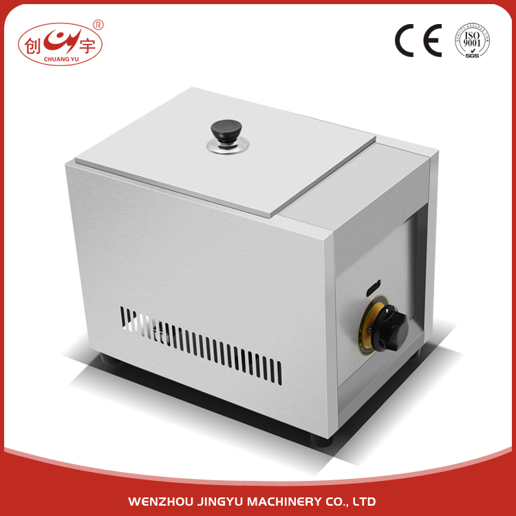 Chuangyu Alibaba China Sale Automatic Temperature Control Gas Fryer With Stainless Steel Basket