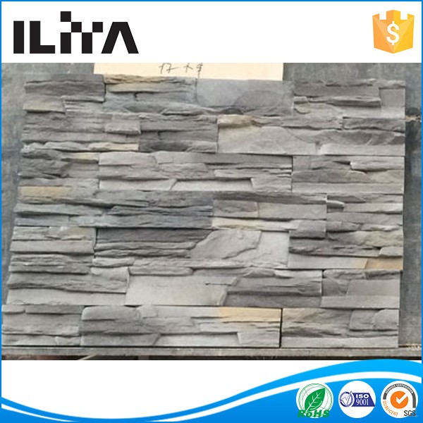 Grey shale ceramsite outdoor decorative paving stone wall bricks made by silicone mold with plastic stone wall price