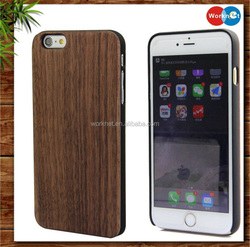 real wood+PC wooden hard case cover for iPhone 6 6s mobile phone case wholesale