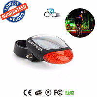 BS004 2 Red leds Solar Power Energy Rechargeable Bicycle Tail Light Red LED Bike Cycling Bikes security warning lamps lights