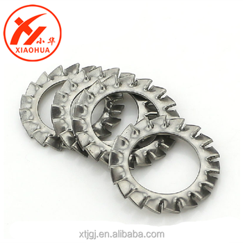 stainless steel serrated washer external sawthoothed lock washers