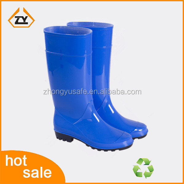 Wholesale pvc safety transparent rain boots, PVC wellington boots factory and industry,ladies fashion boot for woker shoes