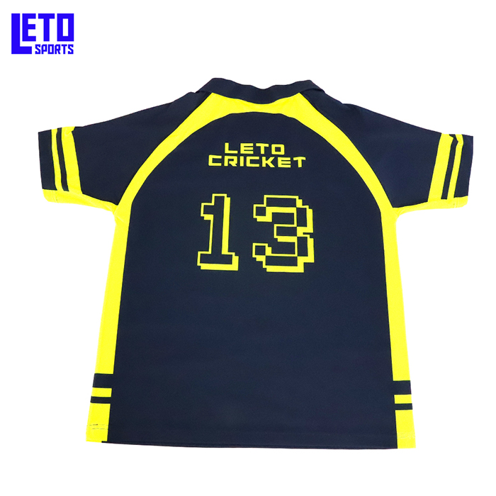 Custom Cheap Full Dye Sublimation New Model Cricket Jersey Design