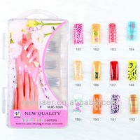 New colored wholesale acrylic nail designs french tip