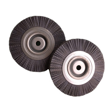 Silicon carbon wire roller brush with factory price application for wooden polishing