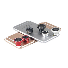 Original 3 in 1 Universal mobile phone clip macro 0.67x wide angle fisheye lens camera lens for Samsung Galaxy S4 Nikon