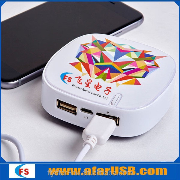 5200 square Portable Power Bank, USB Power Bank 18650 Battery Charger Case for mobile phone