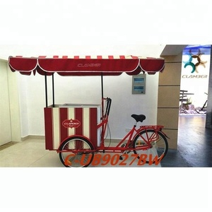 Tricycle for ice cream with sunshade
