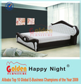 Gold Supplier luxury furniture king size bed