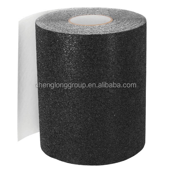 45M long rolled OS780 black skateboard griptape 60# grip