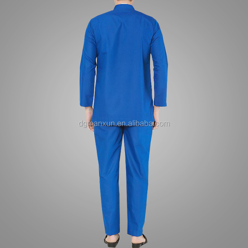 New Arrival Muslim Men Clothes Long Sleeve Clothing Hotsale Muslim Suit Melayu Baju Kurung Wholesale Online