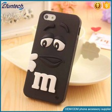 Factory supply cheap price phone case M and M Chocolate bean soft silicone case cover for iphone 6s plus
