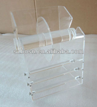 Acrylic Tape Dispenser, Acrylic Label Dispenser,Lucite Film Dispenser